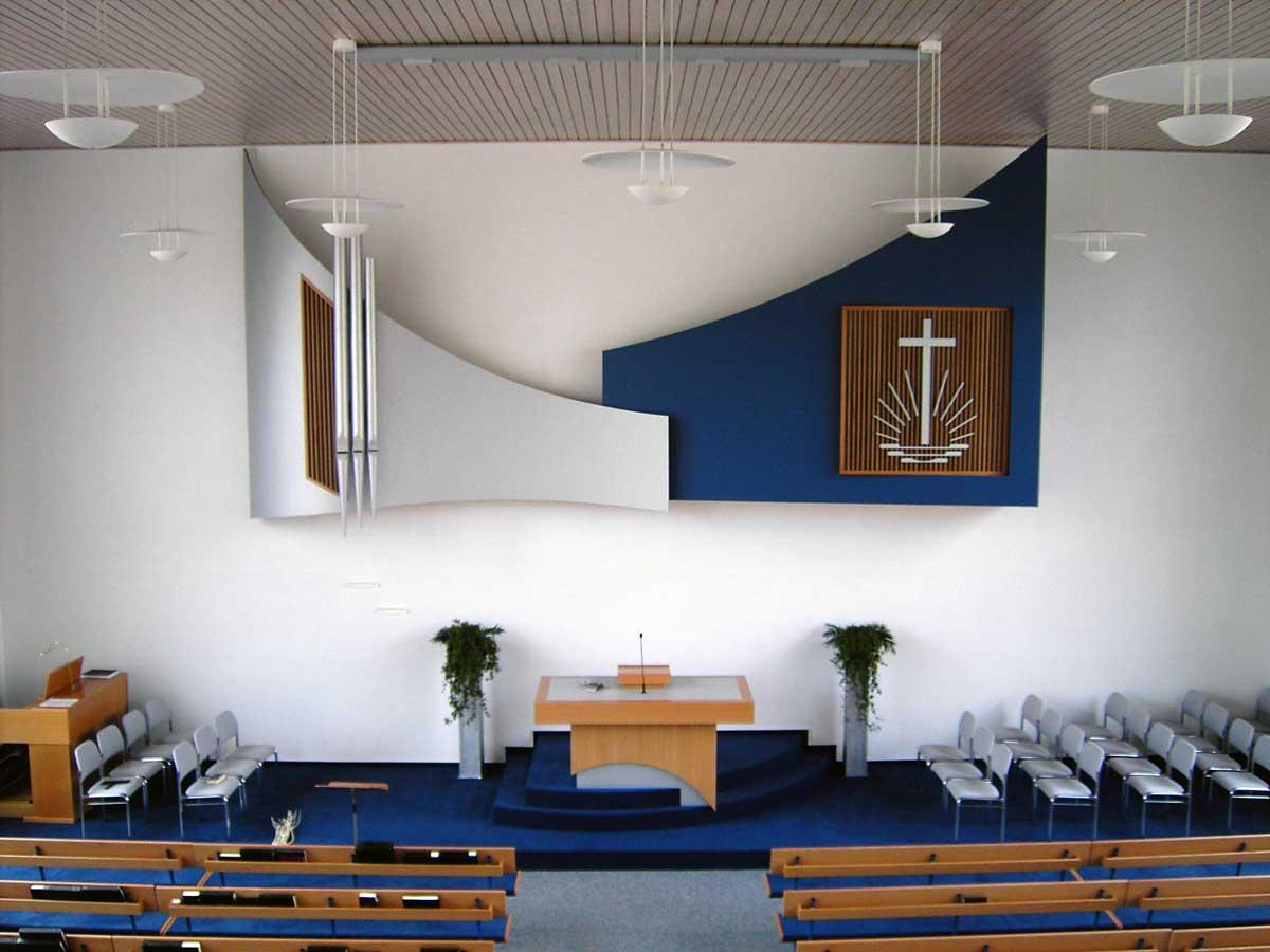 Altar in einer neuapostolischen Kirche